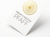 Stylish Gold Letterpres Business Card