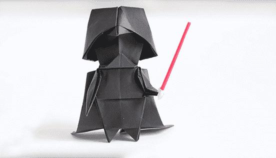 An Origami Darth Vader