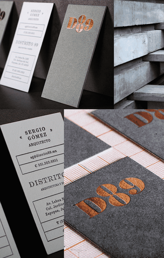 Copper Foil Black Business Card