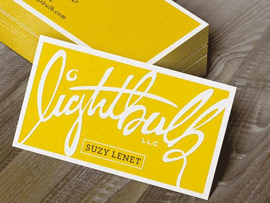 Lightbulb LLC Biz Cards
