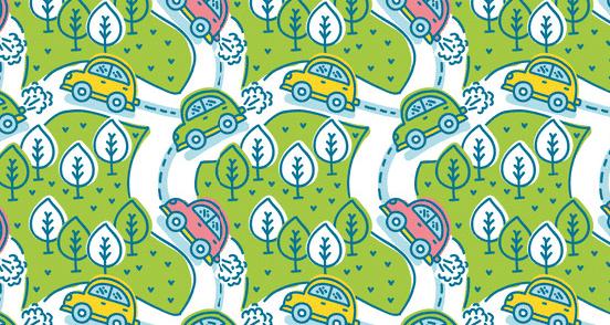 Road Trip Pattern