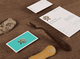 Turquoise Colour Block Business Card