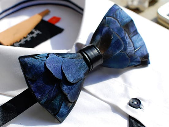 blue-feather-bow-tie