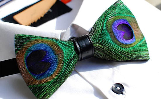 peacock-feather-bow-tie
