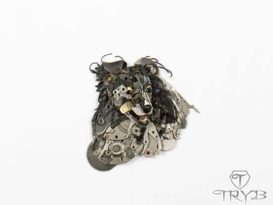TRYB's Tiny Sculptures Let Discarded Watch Parts Have New