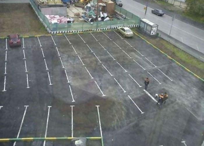fails-parking lot