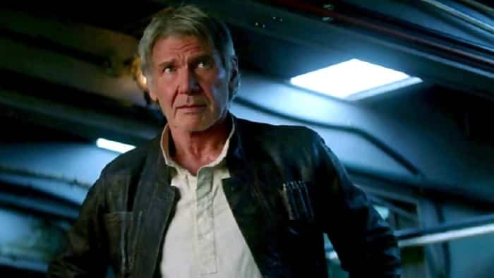 Harrison Ford stars as Han Solo in The Force Awakens