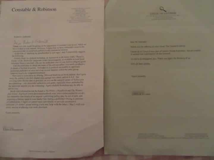J.K. Rowling twitter, picture of rejection letter