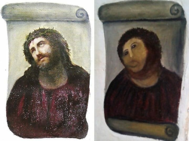 restoration failure, Borja, Spain, Ecce Homo