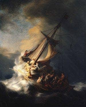 Reproduction oil paintings - Rembrandt Van Rijn - Christ In The Storm On The Sea Of Galilee