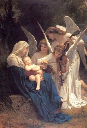 Reproduction oil paintings - William-Adolphe Bouguereau - Song of the Angels